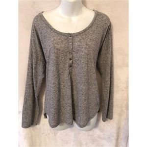 Victoria's Secret gray high low long sleeve blouse